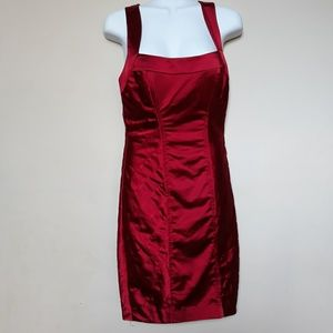Bebe | Bodycon Mini Dress Maroon Rust S